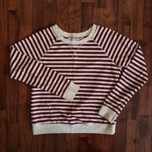 Old Navy cream and red striped sweater